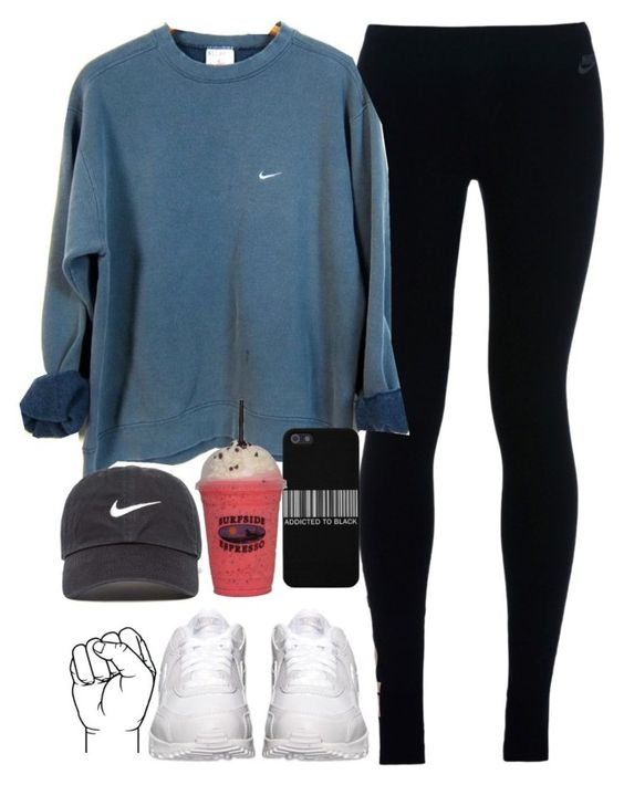 """""""Sometime I don't know If I can"""" by anny15fashion ❤ liked on Polyvore featuring NIKE"""