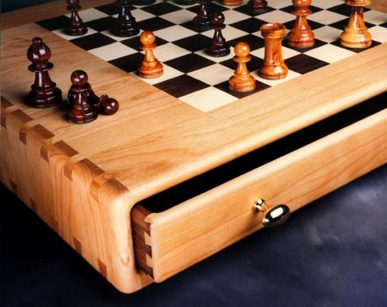 Chess or Game Table by Ed Rizzardi, Woodworker: