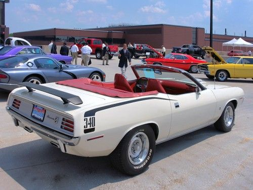 1970 Plymouth 340  Cuda Gran Coupe Convertible with Argent Shaker Hood Alpine White rvr  2006 WW WD DCTC  CL