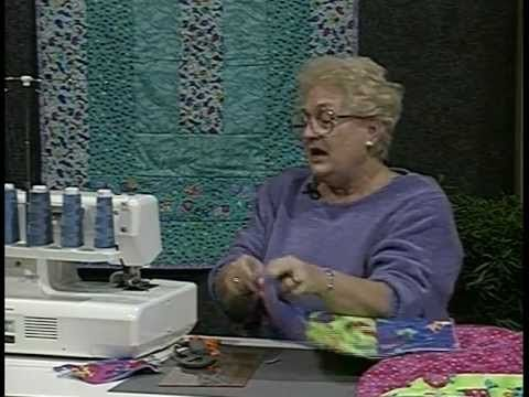 "6 Hour Quilt By Kaye Wood- Serger Quilt as you go reversible quilt., start w/6""x18"". AWESOME!!!"