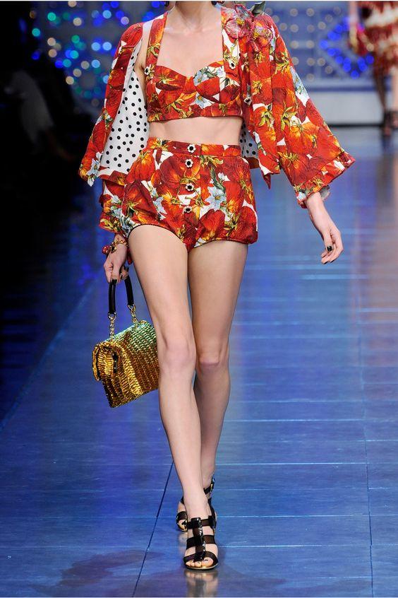 Really tho?????  Dolce & Gabbana|High-waisted cotton-blend brocade shorts|NET-A-PORTER.COM