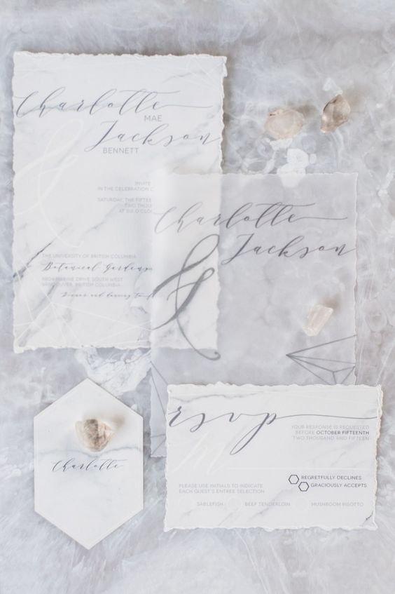 Marble Wedding Ideas | Marble Wedding inspiration | Grey | Gray | Invitations | Wedding Stationery