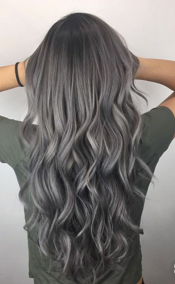 🌚#gray #grayhair #silver #silverhair #hair @leblue215