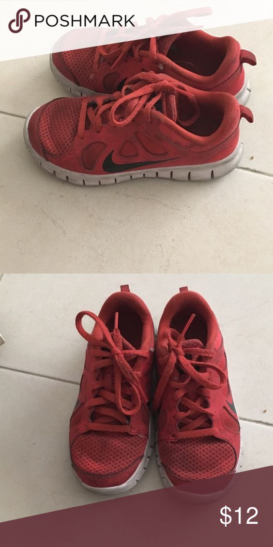Red Nike unisex Red Nike could be for boy or girl Nike Shoes Sneakers