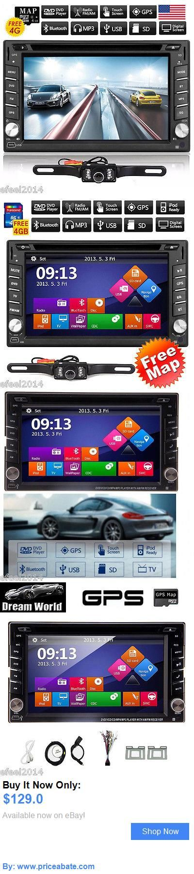 Vehicle Electronics And GPS: Camera Gps Navigation Double 2Din Car Stereo Dvd Player Ipod Bluetooth Mp3 Radio BUY IT NOW ONLY: $129.0 #priceabateVehicleElectronicsAndGPS OR #priceabate
