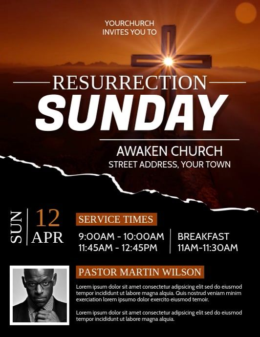 Create The Perfect Design By Customizing Easy To Use Templates In Minutes Easily Convert Your Image Designs Into Videos Or In 2021 Church Service Flyer Easter Poster