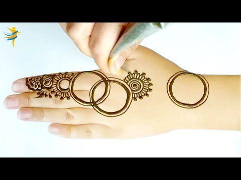 Mehndi Design Front Hand Step By Step نقش بالحناء للمبتدئين خطوة بخطوة Youtube Mehndi Designs Front Hand Mehndi Designs Gold Bracelet