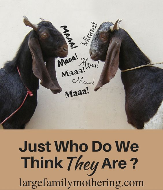 Just who do we think they are_