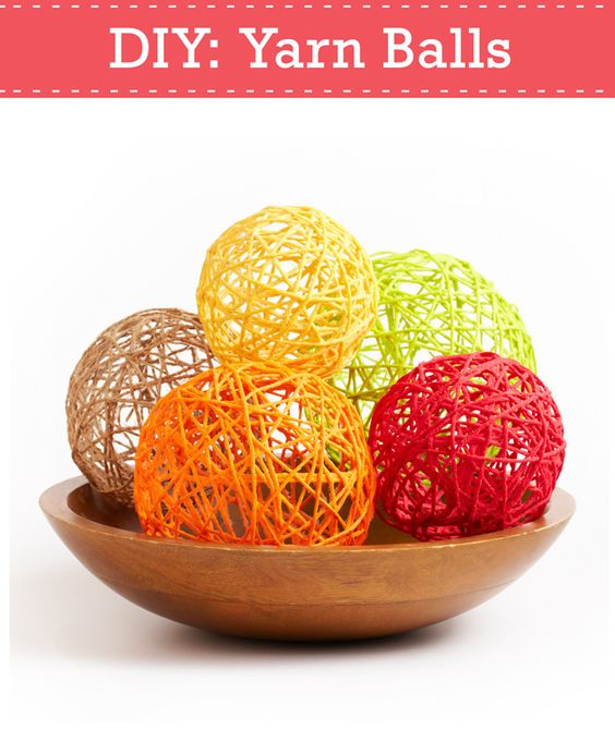 Turn leftover yarn into beautiful decorations with our help: http://www.pgeveryday.com/home-garden/crafts/article/diy-yarn-balls: