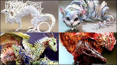 ドラゴンや羽の生えたネコなど幻想的な雰囲気の立体造形「Creatures From El」