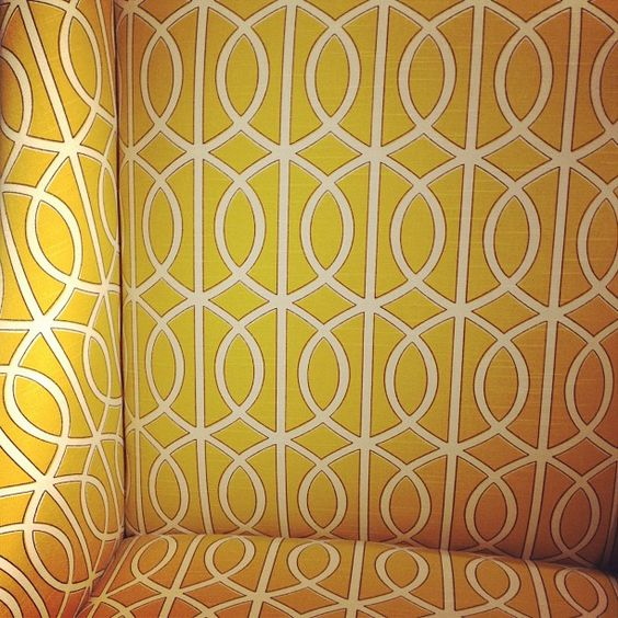 From Robert Allen: Sunny days with our gate citrine fabric.  $42