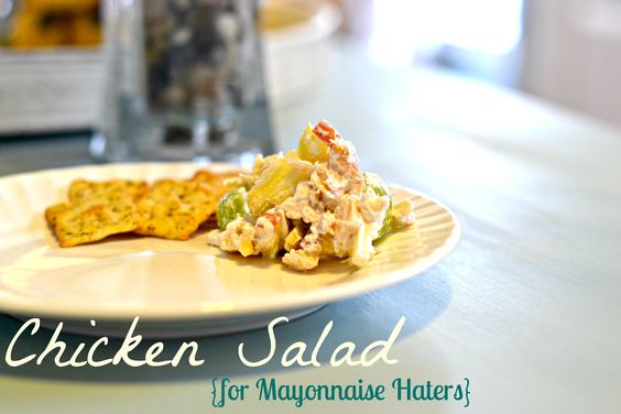 Chicken salad for Mayonnaise haters!