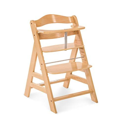 Hauck Chaise Haute Alpha Grandit Avec L Enfant Reglable En Hauteur En Bois Nature Utilisable Jusqu Chaise Haute Chaise Haute Bois Chaise Haute Bebe