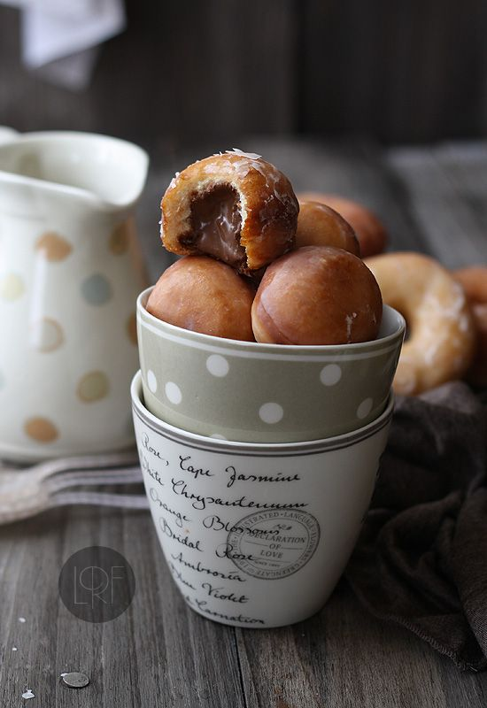 Donut holes - filled with chocolate frosting, custard or ...