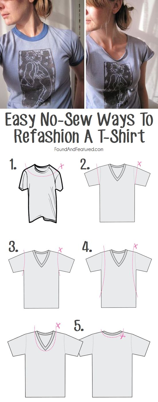 How to cut up a t-shirt for a whole new look! #refashion #tshirt: