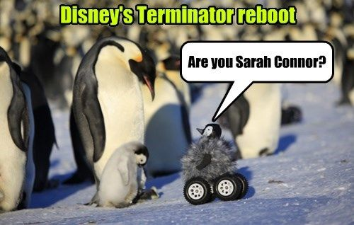 Disney ruins another one.  The little penguin would face palm if his flippers were long enough.