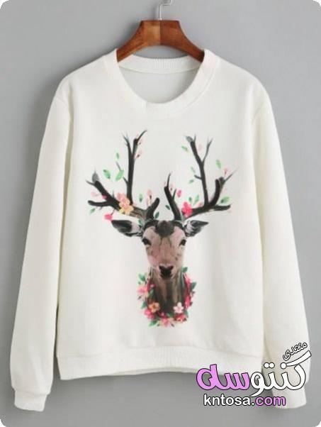 صور تيشرتات 2019 احدث تيشرتات بكم للبنات لشتاء 2019 تيشرتات بناتى تيشرتات حريمي شتويه 2019 Kntosa Com 23 1 Printed Sweatshirts Print Clothes Sweatshirt Fashion