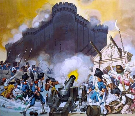 the storming of bastille painting