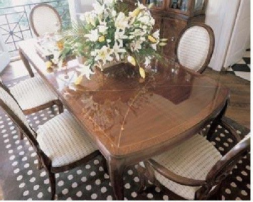 Dining Room Table And Six Chairs Thomasville Bogart Bel Air