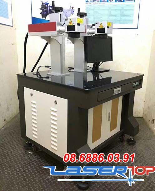 Máy khắc laser Fiber 2 đầu khắc