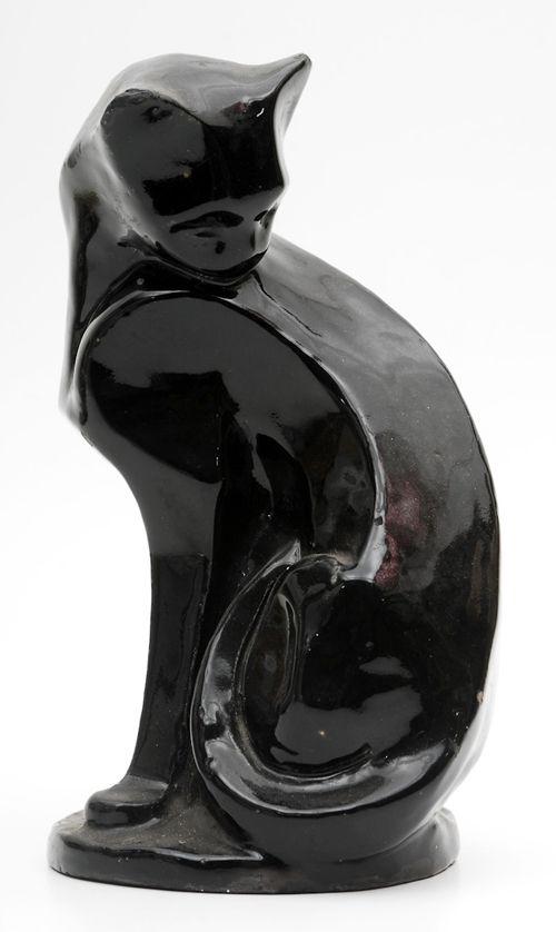 Two favorites together-Art Deco and black cats! ES Art Deco black cat.: