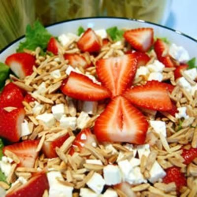 Strawberry and Feta Salad food-and-drink