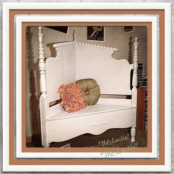 Repurposed Headboard Bench...ThE Panchina BiaNca on Etsy, $200.00
