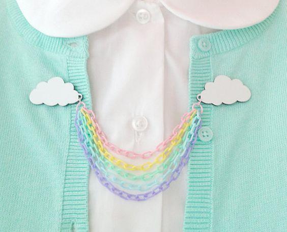 Clips de arco iris collar / cadena suéter por sweetandlovely