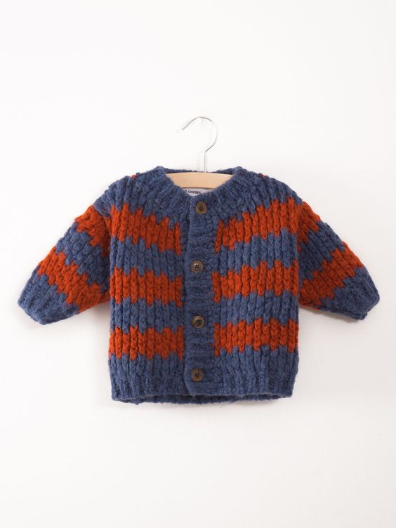 Baby Knitted Cardigan Stripes - Bobo Choses