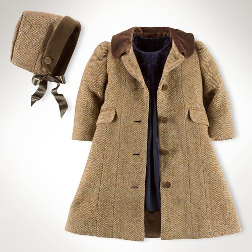 Tweed Princess Coat & Bonnet - Outerwear & Jackets   Baby Girl (Newborn-24M) - RalphLauren.com