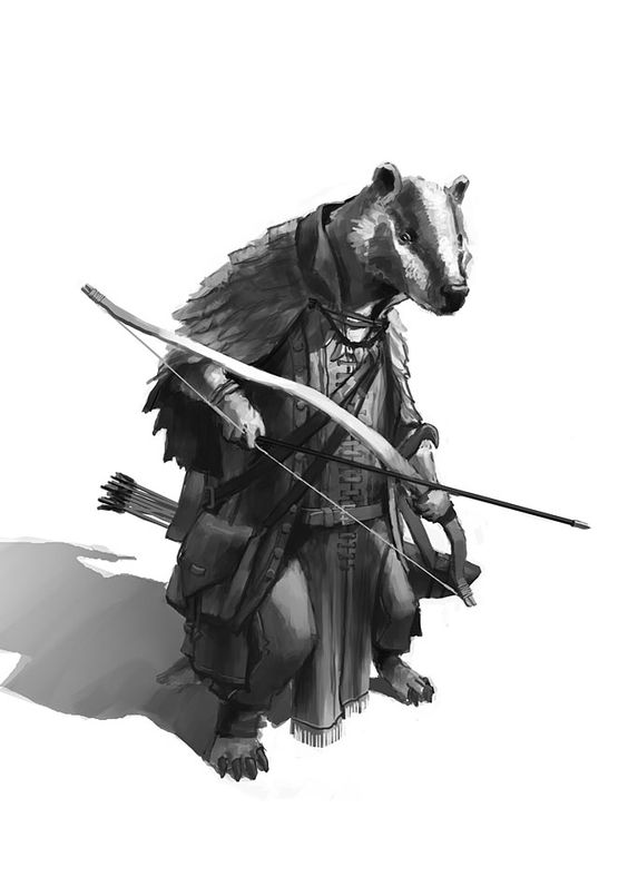 One of the Bravefolk (or Badgerkin) of the Crimson-Lined Valley.