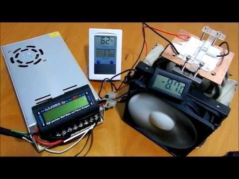 Peltier Power Consumption 19ºc 64ºf To 15ºc 5ºf Youtube Power Science And Technology Technology