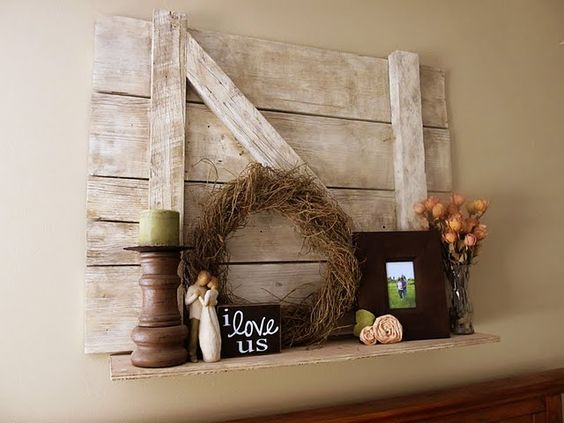 Barn door shelf