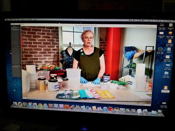 Editing The Art of Cloth Dyeing with Jane Dunnewold! http://www.craftsy.com/ext/Pinterest_BehindTheScenes2