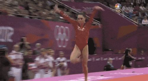 """You remember her from the perfect vault she did in the Women's Team Gymnastics final. 