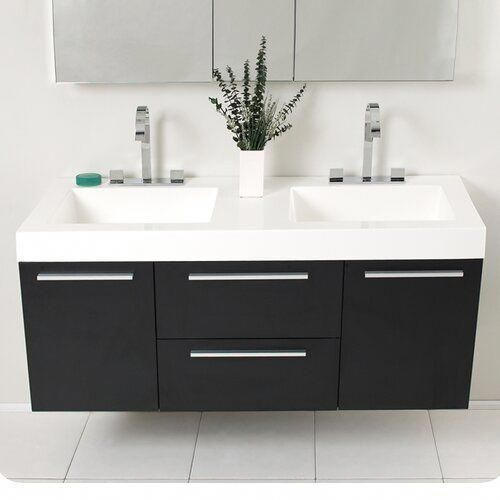Senza Opulento 54 Double Bathroom Vanity Set With Mirror In 2020