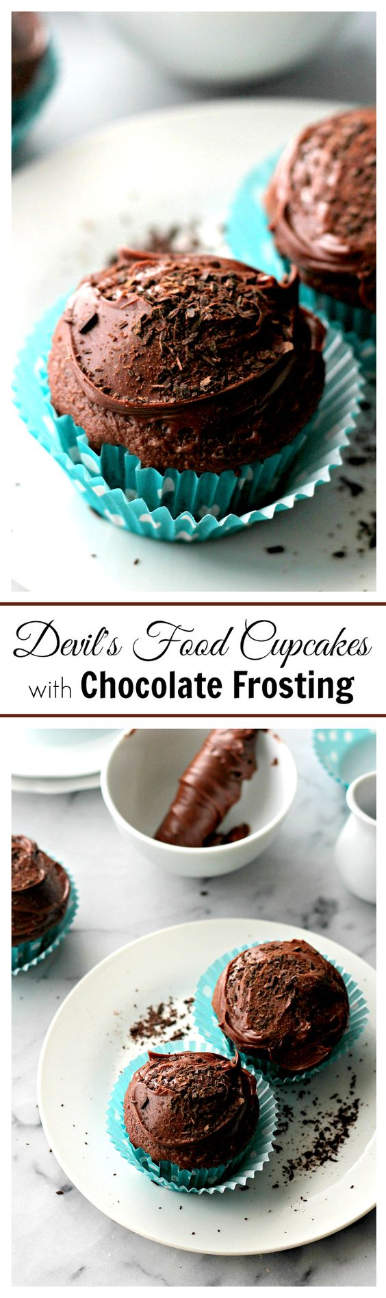 Devil's Food Cupcakes with Chocolate Frosting | www.diethood.com | One ...