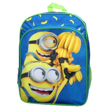 "Despicable Me 16"" Kids Minions and Bananas Kids Backpack - Blue : Target"