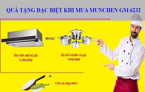 Khuyến mại mới nhất khi mua bếp từ Munchen GM 6232 trong tháng 12