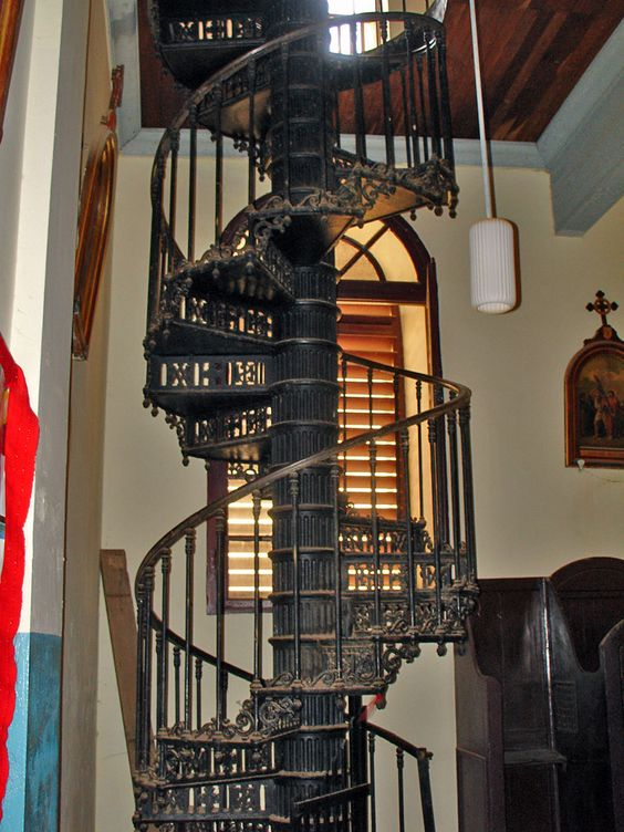 Wrought iron spiral staircase visual communications and - Spiral staircase wrought iron ...