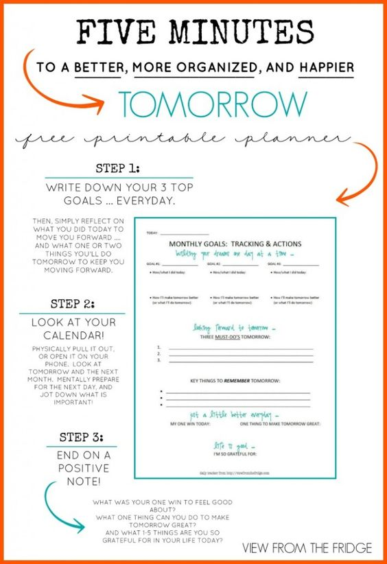 Free Daily Planner Printable  Minutes To A Better More