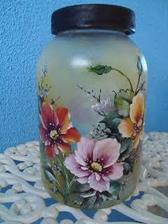 Resultado de imagem para potes de vidro  jateado