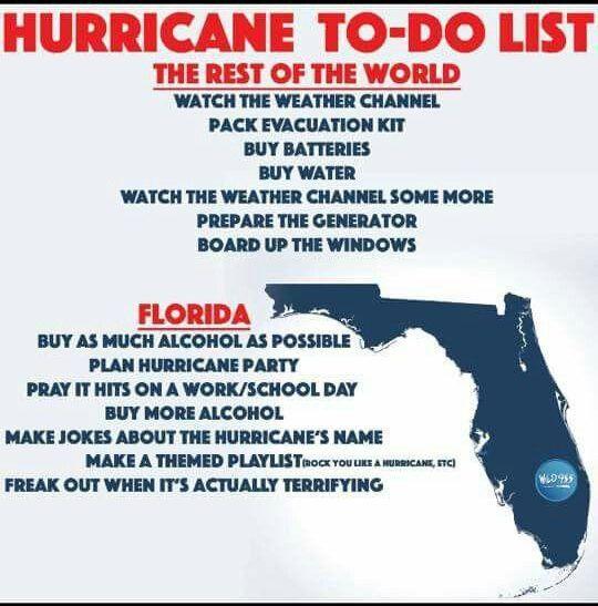 Hurricane To Do List