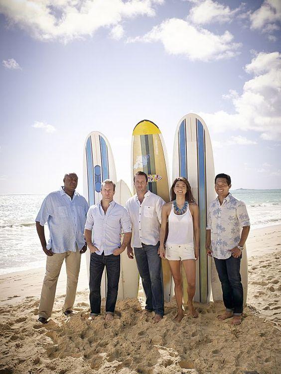 HAWAII FIVE 0 Season 5 Cast Photos Chi McBride, Grace Park, Alex O'Loughlin, Scott Cann, and Daniel Dae Kim