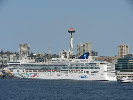 NCL Alaskan Cruise ship docked in Seattle