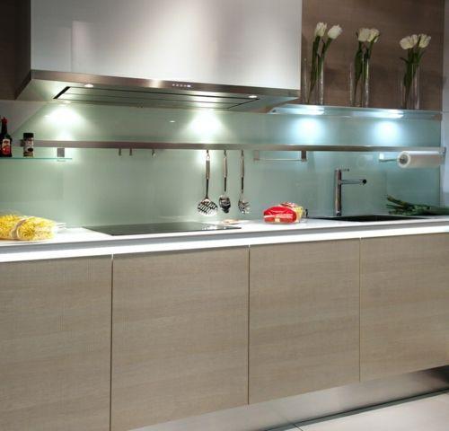 glanzvoll farben robust Wohnideen für Küche Glasrückwand Lisa - wandverkleidung küche glas