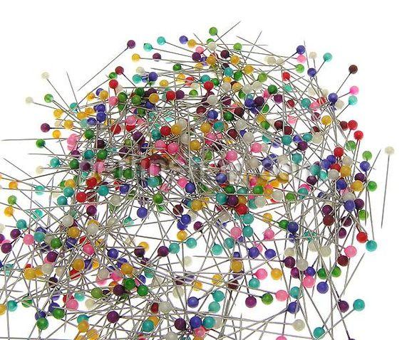 Perlen Nadel, Eisen, Platinfarbe platiniert, gemischte Farben, frei von Nickel, Blei & Kadmium, 32x4x0.50mm, 5Kästen/Gruppe, ca. 700Stücke/Kasten, verkauft von Gruppe - perlinshop.com