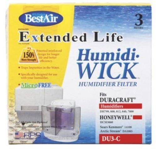 BestAir DU3 C Humidifier Wick Filter, 7 14