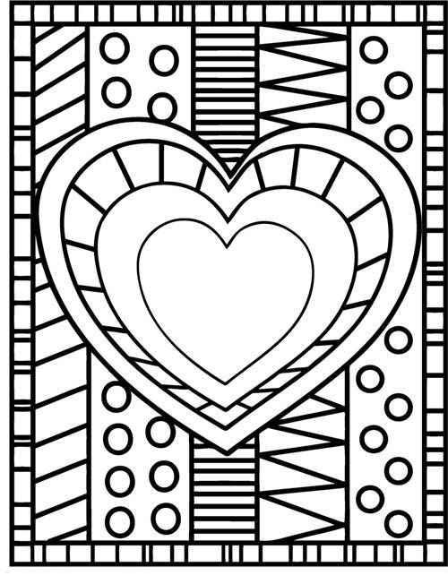 Valentine Heart Coloring Pages Heart Coloring Pages Valentines