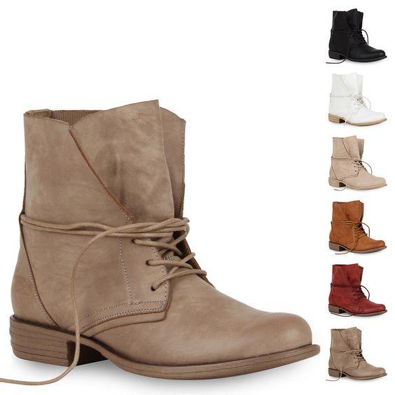 Damen Worker Boots Stiefeletten 71380 Lederoptik Gr. 36-41 für Herbst & Winter in Kleidung & Accessoires, Damenschuhe, Stiefel & Stiefeletten | eBay